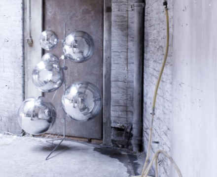 mirror ball tripod stand. Black Bedroom Furniture Sets. Home Design Ideas