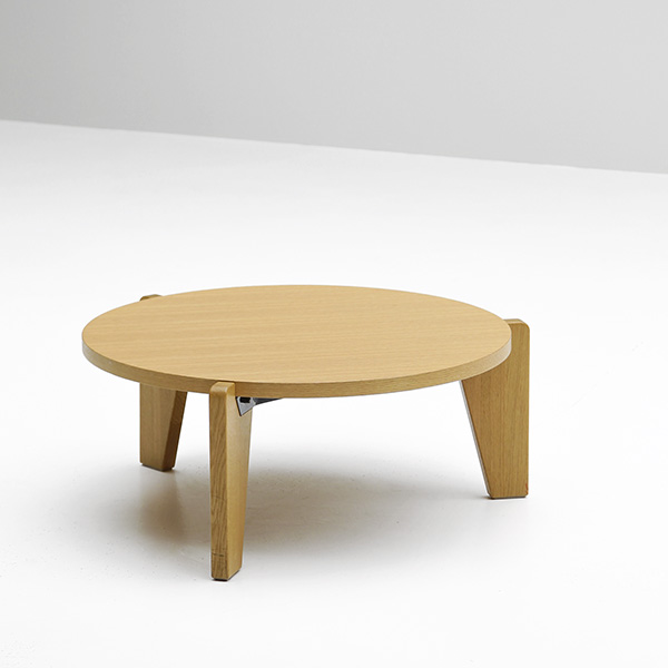 Gueridon bas designer coffee table made from wood - Jean prouve coffee table ...