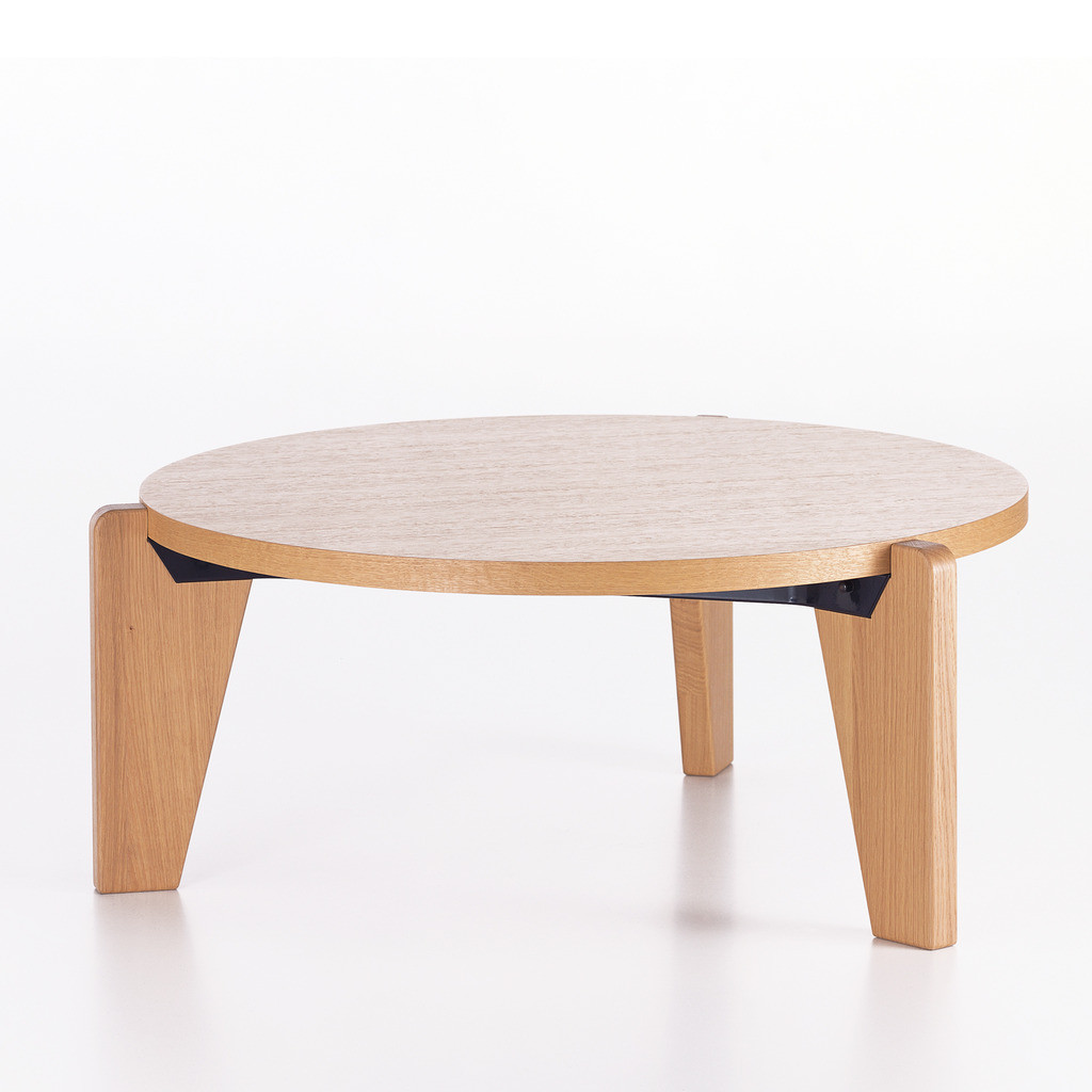 gueridon bas designer coffee table made from wood. Black Bedroom Furniture Sets. Home Design Ideas