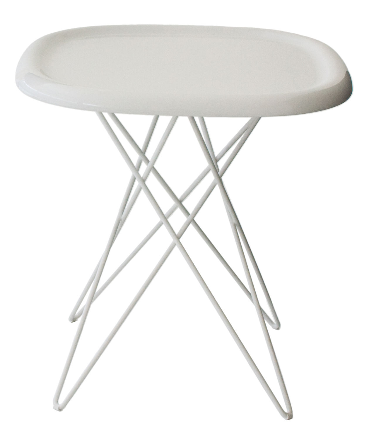 Pizza table of steel rod and standard injection glossy top for Table 5 pizza