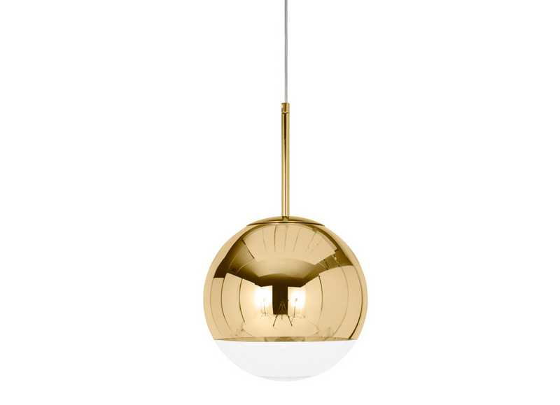 Mirror Ball Gold 25 Pendant