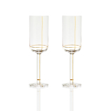 Hay Golden Lines Champagne Glass