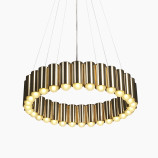 Carousel Suspension Lamp Brass