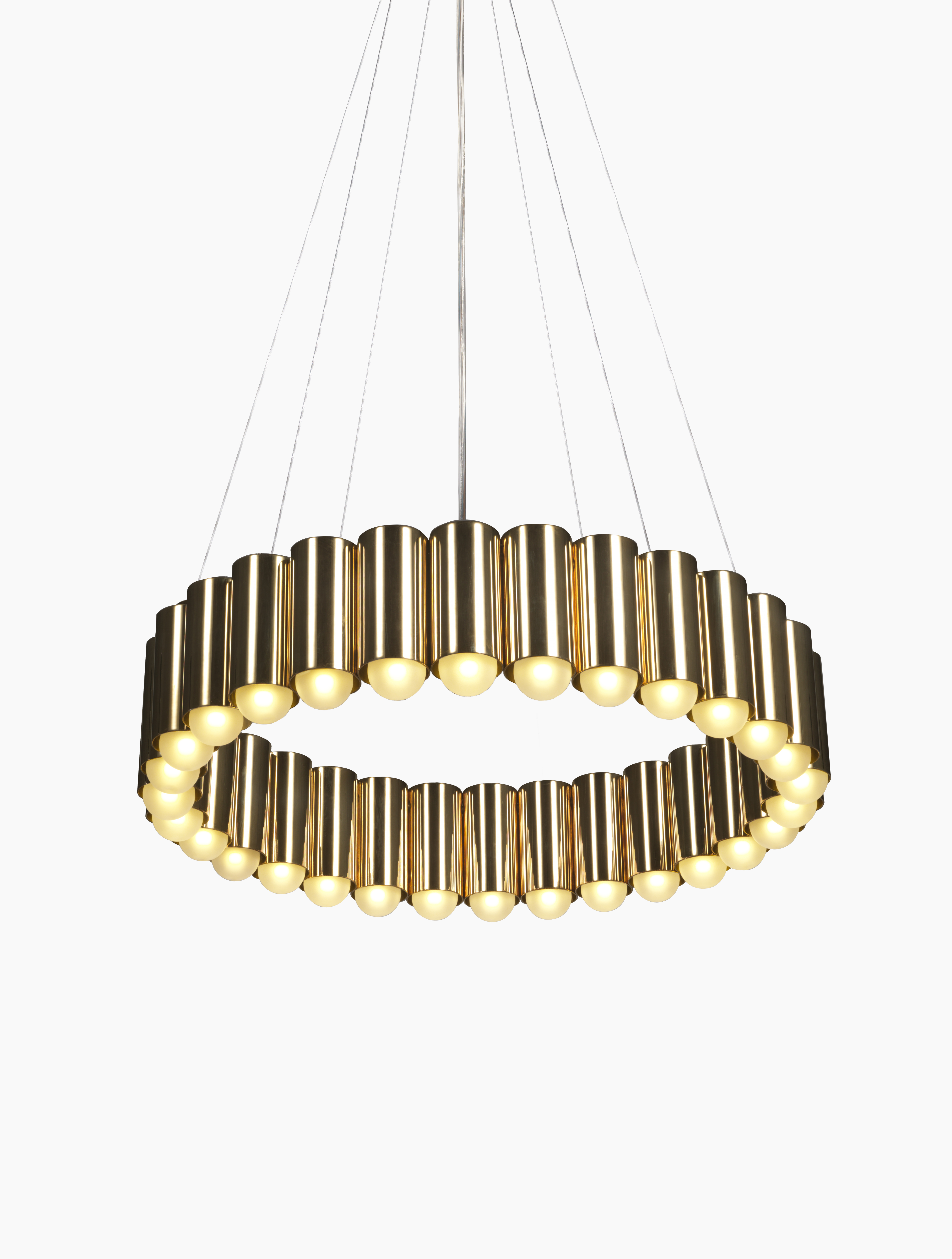 Carousel suspension lamp brass for Suspension a 3 lampes
