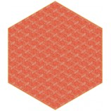 Hexagon Red Rug
