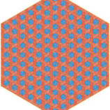 Hexagon Red:Blue Rug