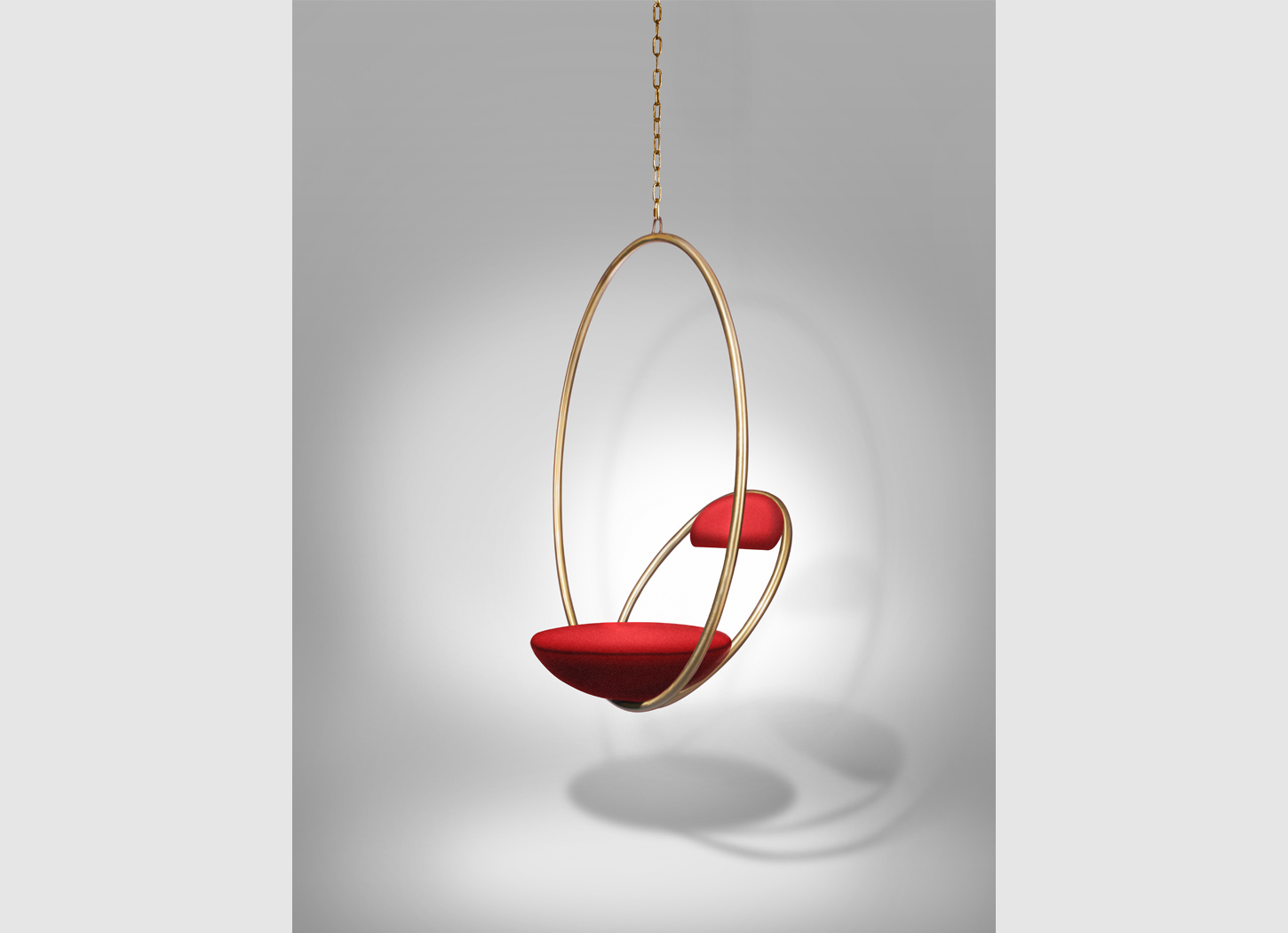 Hanging hoop chair brass for Hanging chair images