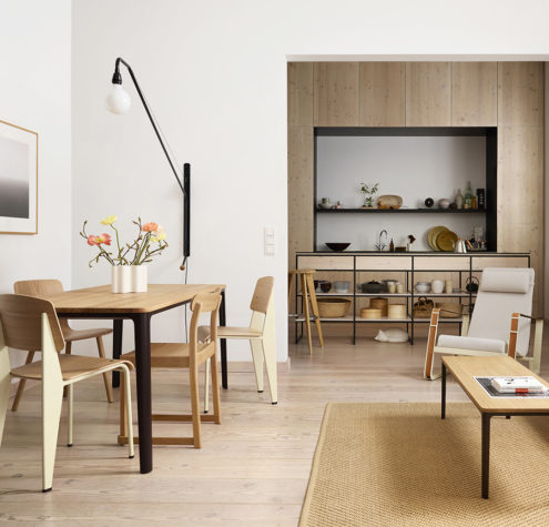 Plate Dining Table Standard HAL Plate Table, Cité Chair, Soft Modular Sofa, Potence