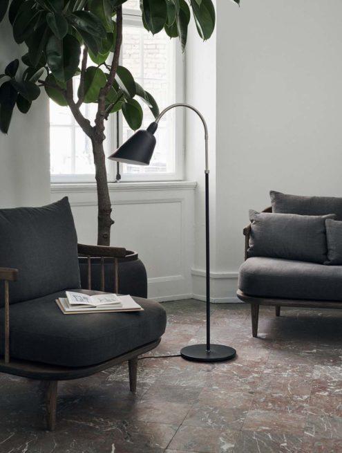 Bellevue Floor Lamp Black & Steel