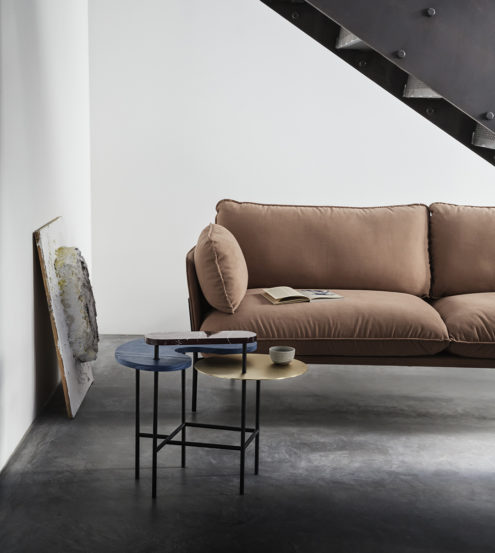 Palette Table and Cloud Sofa