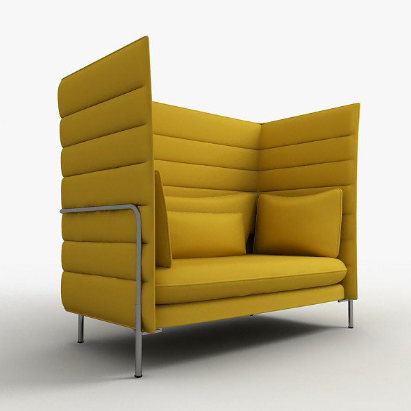Alcove Highback Sofa Has Side And Back Panels Of