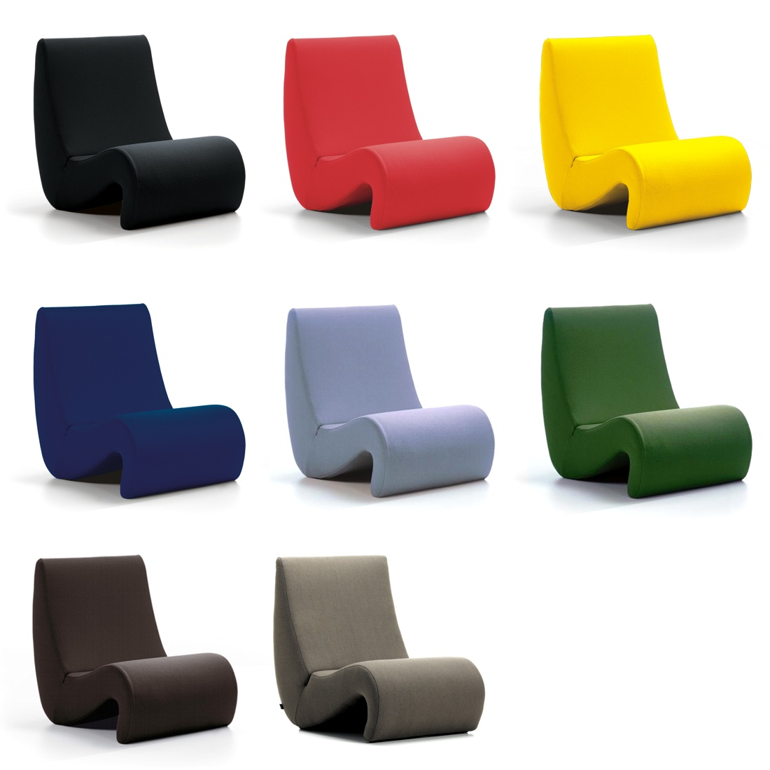 amoebe highback designer lounge chairs from vitra. Black Bedroom Furniture Sets. Home Design Ideas