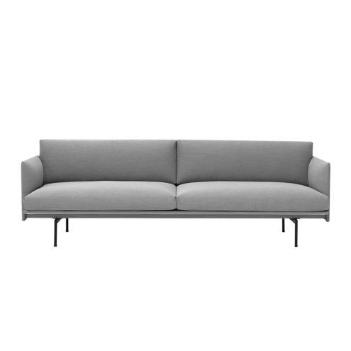 Outline Sofa 3-Seater - Steelcut Trio 133