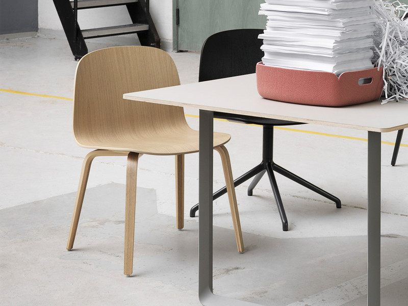 visu chair wide wood base