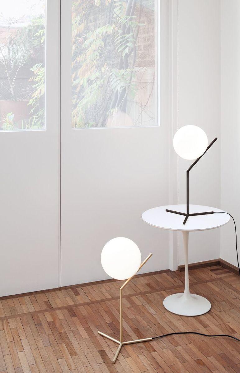 IC Table Lamp Black & Brass