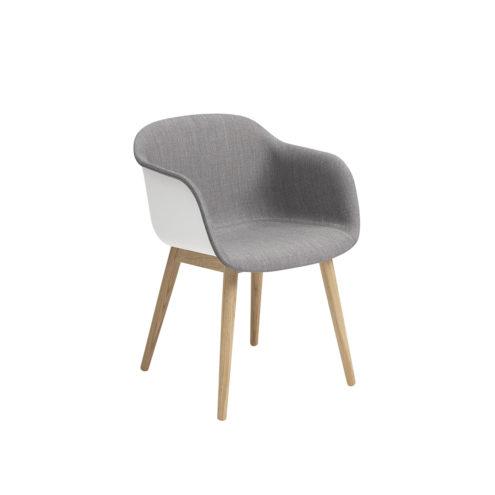 Fiber armchair front upholstery