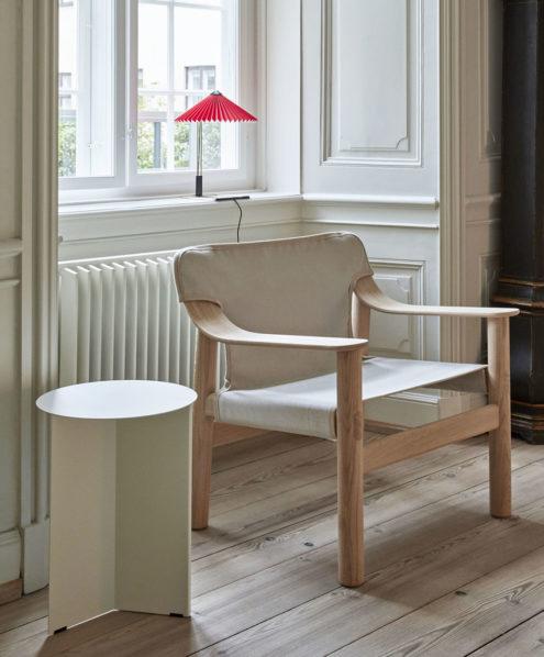 Bernard Chair in Matt Lacquered Oak & Slit Table