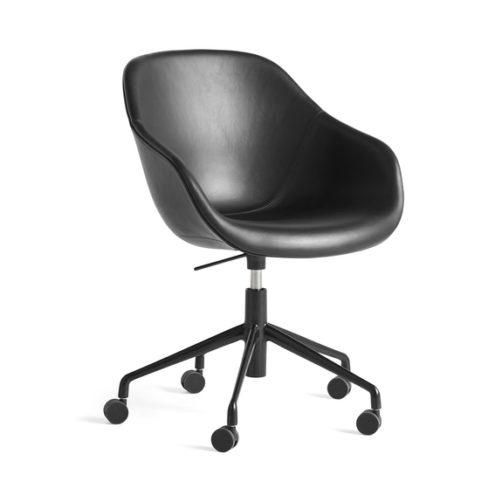 AAC153 Chair w. gas black 5 star swivel base