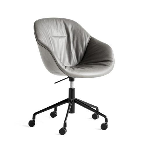 AAC153 Soft Chair w. gas black 5 star swivel base