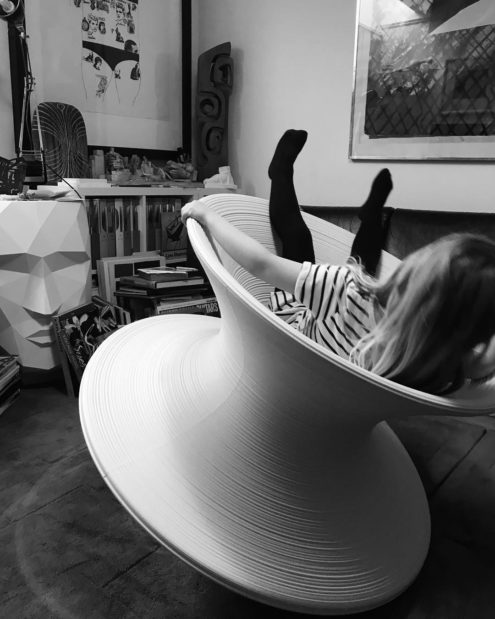 Spun Chair White