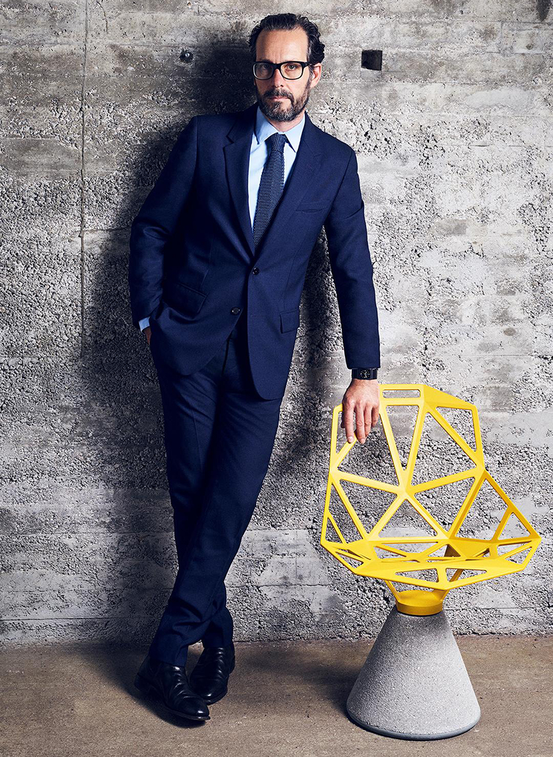 Konstantin Grcic with his Chair_One from Magis