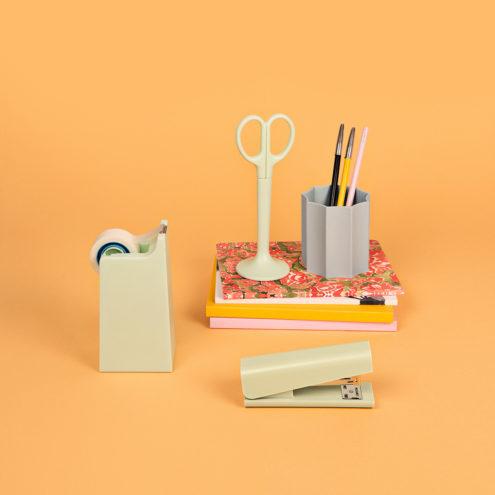 Anything Stapler Tape Scissors, Iris Pen Holder, Mono Notebook, Design Miami Notebook