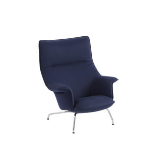 Doze Lounge Chair Blue & Chrome