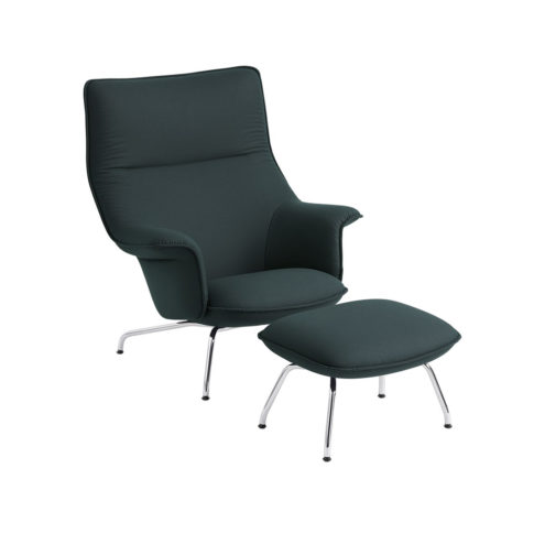 Doze Lounge Chair in Green