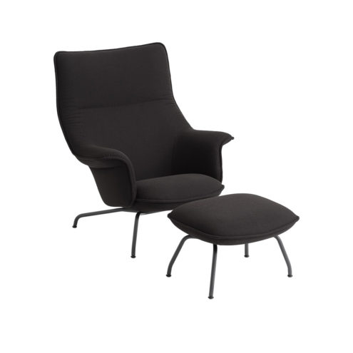 Doze Lounge Chair in Grey with Anthracite Legs