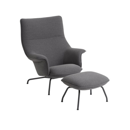 Doze Lounge Chair in Light Grey with Anthracite Legs