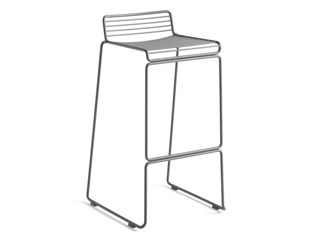 Hee Bar Stool High Grey