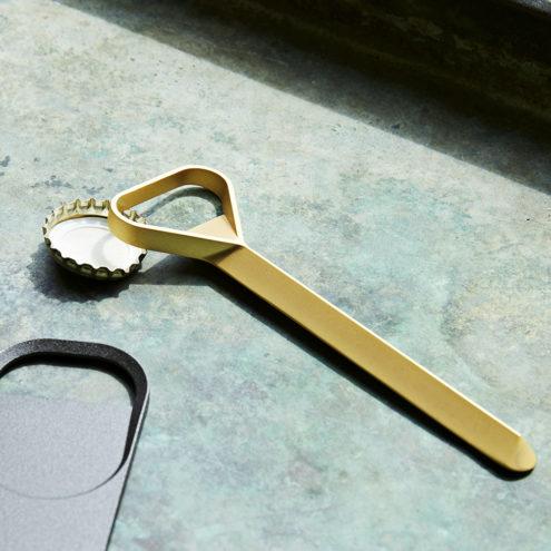 Cap Slim Gold Bottle Opener
