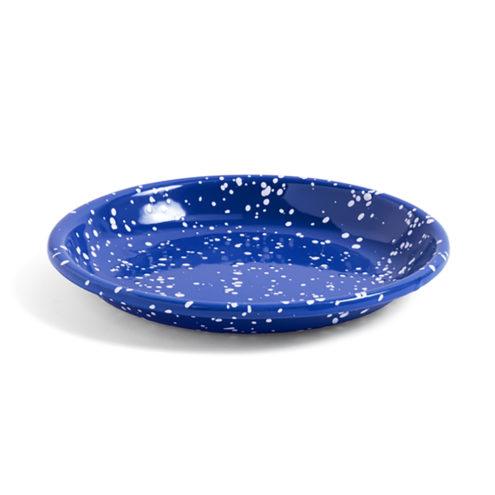 HAY Enamel Deep Plate Speckle Blue