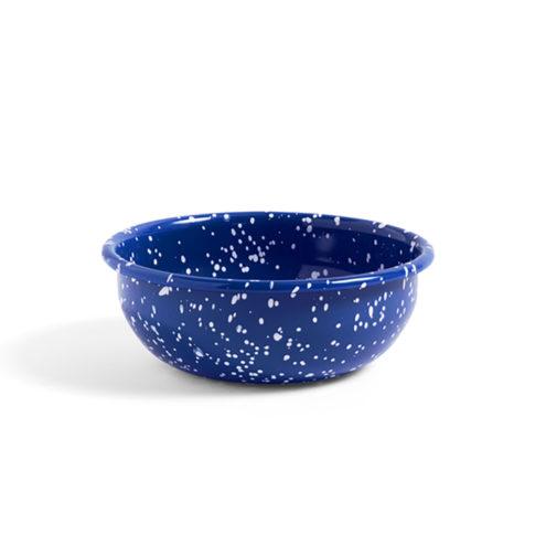 HAY Enamel Bowl Speckle Blue