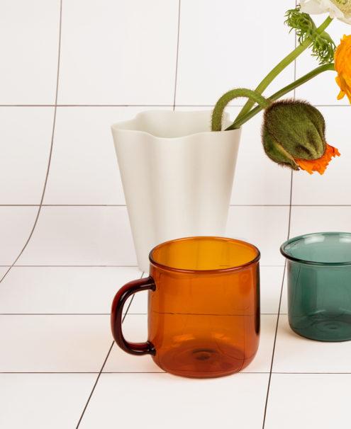 Borosilicate Mug Amber