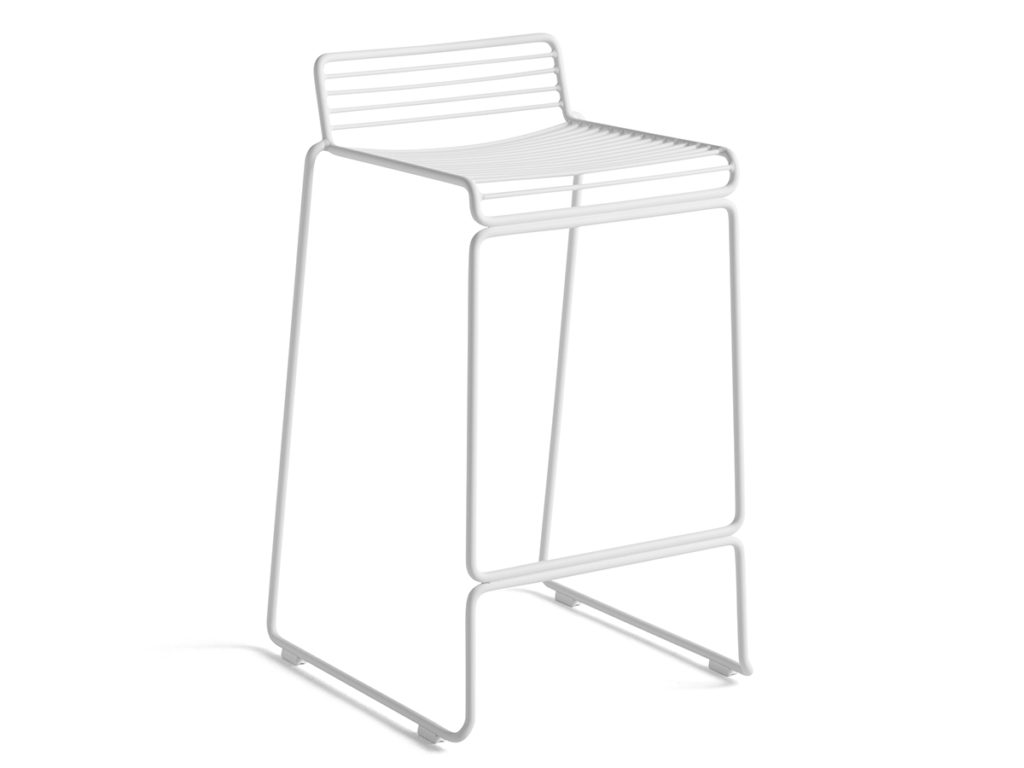 Hee Bar Stool Low White
