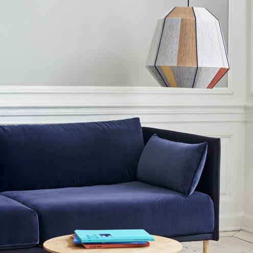 Bonbon Medium above Silhouette Duo Sofa and Bella coffee table